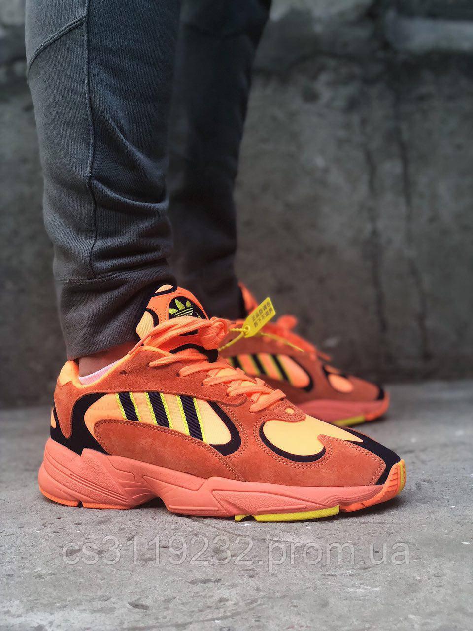 Женские кроссовки Adidas Yung 1 Hi Res Orange (оранжевые)