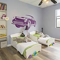 Трафарет в детскую комнату автомобиля 95 х 225 см