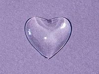 Заготовка под украшение в форме сердечка, 16 мм, 1 шт