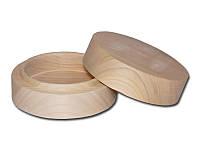 Деревянная заготовка - Шкатулка для творчества круглая, размеры 13x13x6 см, 1 шт