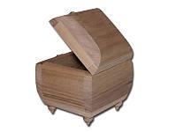 Деревянная заготовка - Шкатулка для творчества округлая на ножках, размеры 11x10x9 см, 1 шт