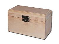 Деревянная заготовка - Шкатулка для творчества прямоугольная высокая, размеры 16x8x8 см, 1 шт