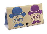 Женский кошелек -Вело-усы-. Ручная работа