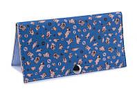 Жіночий гаманець -Мопсики на синьому тлі. Ручна робота