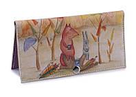 Жіночий гаманець -Збирачі парасольок-. Ручна робота