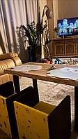 Детский столик LOFT / Дитячий столик LOFT / Дубовый детский столик / Дубовий дитячий столик