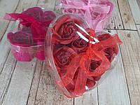 Набор подарочное мыло розы 6 бутонов ( подарок на 14 февраля )