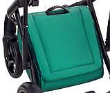Универсальная детская коляска  2 в 1 Adamex Luciano кожа 100% Q117 зеленый (изумруд) перламутр, фото 9