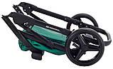 Универсальная детская коляска  2 в 1 Adamex Luciano кожа 100% Q117 зеленый (изумруд) перламутр, фото 10