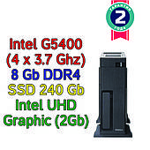 Системный блок / ПК  ( Intel G5400 (4 x 3.7GHz) / H310 / 8Gb DDR4 / SSD 240 Gb / 400W)