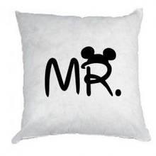 Подушка  с любым принтом MR. MRS.
