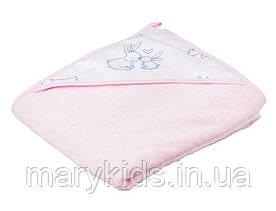 Дитячий рушник Tega Kroliczki KR-008 100*100 Pink