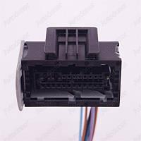 Разъем автомобильный 22-pin/контактный. Мама. 47×27 mm. Б.У