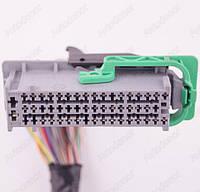 Разъем автомобильный 52-pin/контактный. Мама. 66×21 mm. Б.У