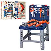 Набор инструментов, чемодан-верстак, дрель-вращается сверло, 57 деталей, 008-22