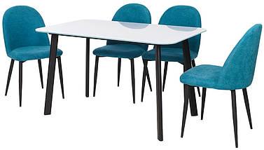 Обеденный стол Т-312 белый 130*80 см белый TM Vetro Mebel, фото 2