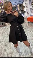 Женское модное платье черное р.42-46, фото 1