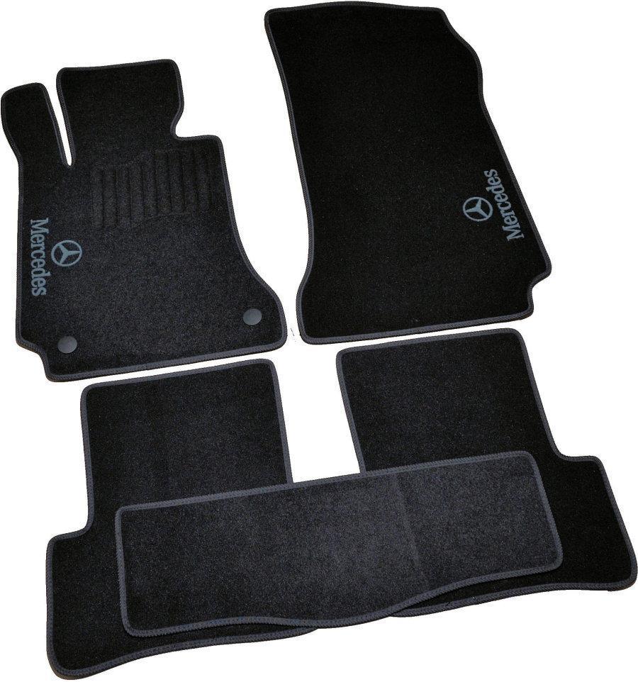 Коврики в салон ворс Mercedes C204/GLK X204 (2007-2014) /Чёрные, 5шт