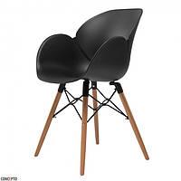 Кресло FRIEND (Френд) черный пластик на деревянных ножках от Concepto