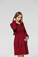 Платье для беременных и кормящих Lullababe Philadelphia Бордо, фото 1