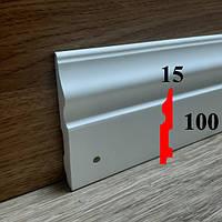 Интерьерный плинтус грунтованный под покраску 15х100, длина 2,44
