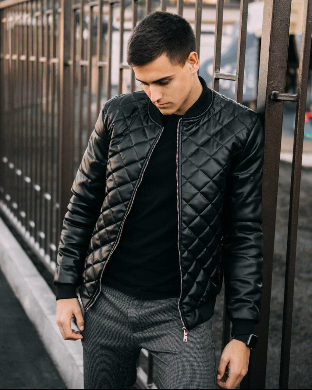 Чоловіча куртка. Шкіряна куртка.