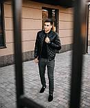 Чоловіча куртка. Шкіряна куртка., фото 3