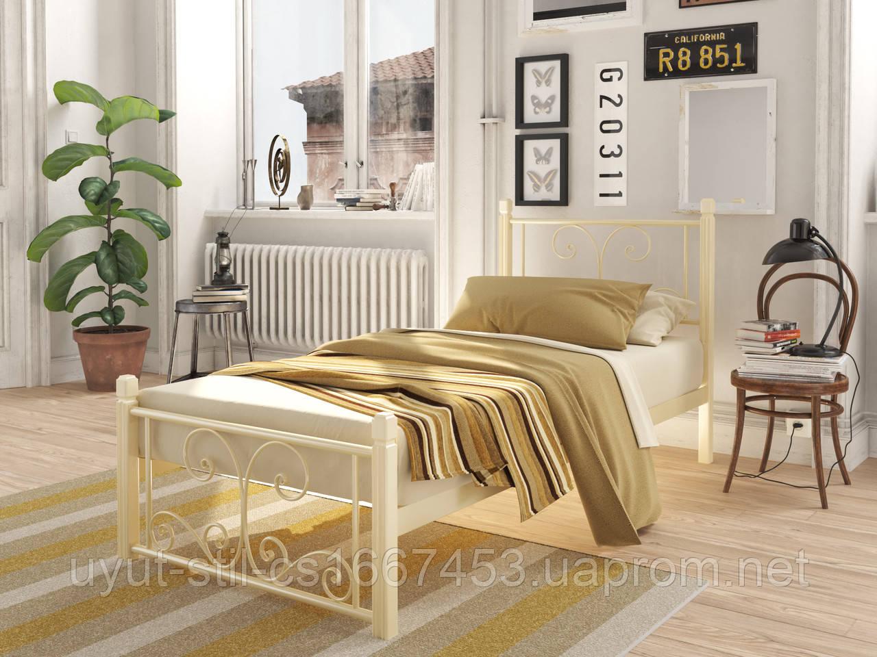 """Кровать """" НАРЦИСС """" мини на деревянных ногах"""