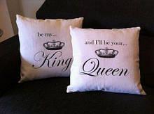 Подушка для него и нее  King Gueen