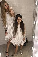 Family look комплект платьев мама и дочка, фото 1