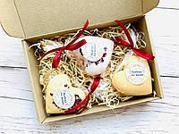 Набор бомбочек для ванной гейзер ручной работы Handmade by Caramel СЕРДЦЕ 3 шт, фото 1