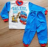 Детская тёплая пижама на байке Тачки WRECKING SQUAD на мальчика, фото 2