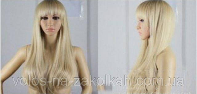 """Парик блондинка.Парик блонд ровный с челкой """" Анфиса"""", фото 2"""