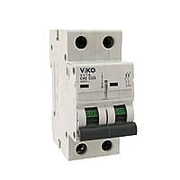 Автоматический выкл. VIKO 2P 10A 4.5кА 230/400В тип С