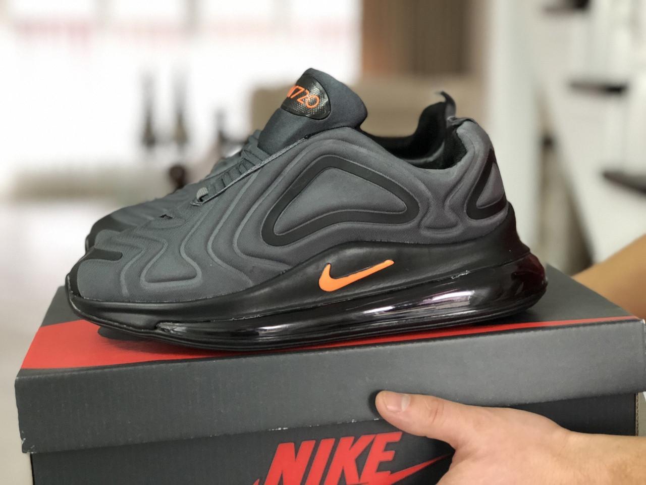 Чоловічі кросівки Nike Air Max 720 (сіро-чорні)