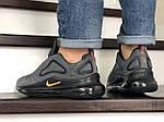 Чоловічі кросівки Nike Air Max 720 (сіро-чорні), фото 2