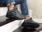 Чоловічі кросівки Nike Air Max 720 (сіро-чорні), фото 3