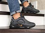 Чоловічі кросівки Nike Air Max 720 (сіро-чорні), фото 4