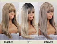 Парик омбре блондинка  средняя длина
