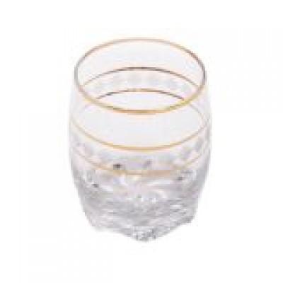Набір стаканів 6 шт 290 мл Bright золота окантовка 22301