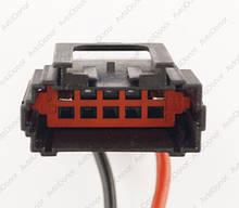 Разъем автомобильный 10-pin/контактный. Папа. 39×20 mm. Б.У