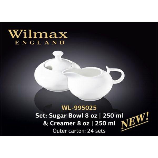 Набір Цукорниця+молочник 2 предмета Color Wilmax WL-995025