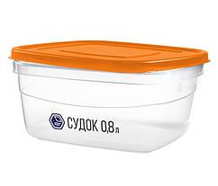 Судок для еды Народный продукт 0.8 л оранжевый