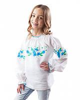 Вышиванка для девочки 100% лен (в размере 98 - 116)