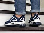 Чоловічі кросівки Nike Air Max 720 (синьо-білі), фото 2