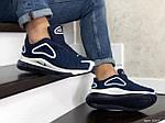 Чоловічі кросівки Nike Air Max 720 (синьо-білі), фото 3