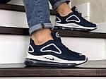 Чоловічі кросівки Nike Air Max 720 (синьо-білі), фото 4