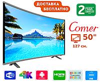 """Телевизор Comer 50"""" Smart TV, Wi-Fi, E50DU1000, Оригинал, фото 1"""