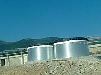 Модульные емкости с пластиковой крышей