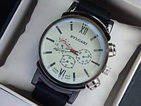 Мужские кварцевые наручные часы Bvlgari на каучуковом ремешке, фото 1